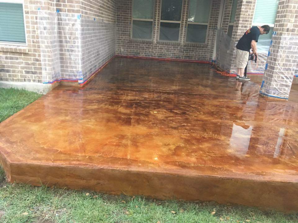 Stained Concrete Two Brothers Resurfacing